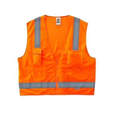 Ergodyne® GloWear® 8250Z Class 2 Hi-Visibility Surveyors Vest, Orange, Large/XL