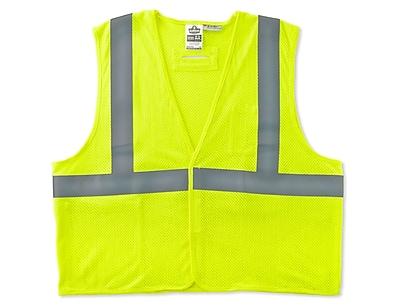 Ergodyne® GloWear® 8260HL Class 2 Hi-Visibility Flame Resistant Modacrylic Vest, Lime, 4XL/5XL