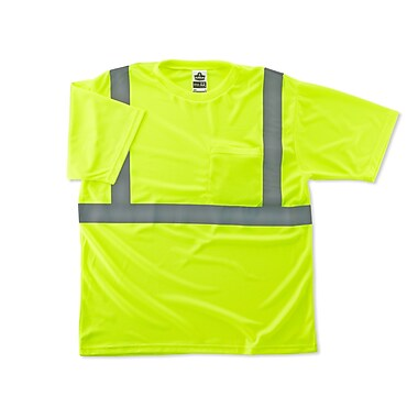 Ergodyne® GloWear® 8289 Lime Class 2 Hi-Visibility Safety T-Shirts