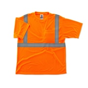 Ergodyne® GloWear® 8289 Class 2 Hi-Visibility Safety T-Shirt, Orange, Medium