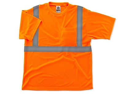 Ergodyne® GloWear® 8289 Class 2 Hi-Visibility Safety T-Shirt, Orange, 4XL