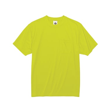 Ergodyne® GloWear® 8089 Non-Certified Hi-Visibility Safety T-Shirt, Lime, Small