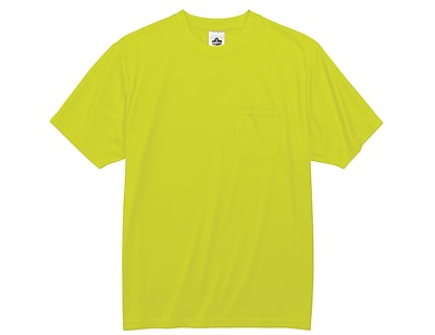 Ergodyne® GloWear® 8089 Non-Certified Hi-Visibility Safety T-Shirt, Lime, 2XL