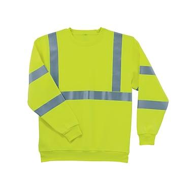 Ergodyne® GloWear® 8397 Class 3 Hi-Visibility Sweatshirt, Lime, 5XL