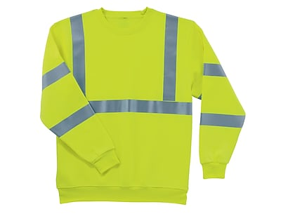 Ergodyne® GloWear® 8397 Class 3 Hi-Visibility Sweatshirt, Lime, Small