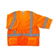 Ergodyne® GloWear® 8320Z Class 3 Hi-Visibility Standard Vest, Orange, Large/XL