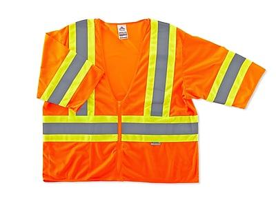 Ergodyne® GloWear® 8330Z Class 3 Hi-Visibility Two-Tone Vest, Orange, 2XL/3XL