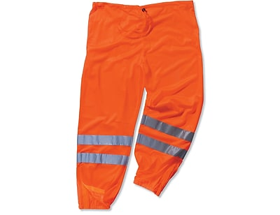 Ergodyne® GloWear® 8910 Class E Hi-Visibility Pant, Orange, 4XL/5XL