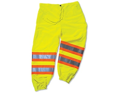 Ergodyne® GloWear® 8911 Class E Two-Tone Pant, Lime, Large/XL