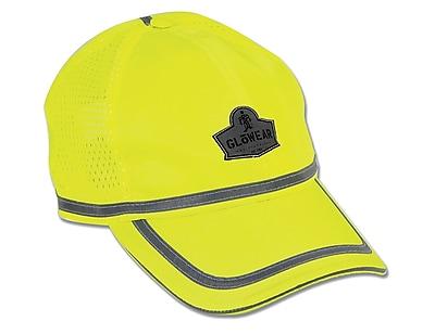 Ergodyne® GloWear® 8930 Class Headwear Hi-Visibility Baseball Cap, Lime, One Size