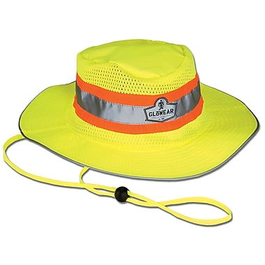 Ergodyne® GloWear® 8935 Hi-Vis Ranger Hats, Large/XL, Lime