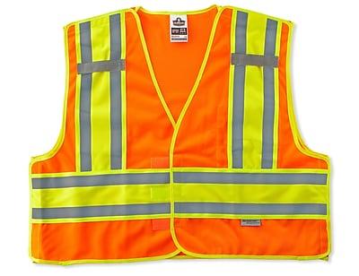 Ergodyne® GloWear® 8245 Public Safety Vest, Orange, 2XL/3XL