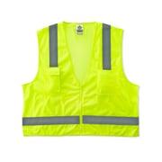 Ergodyne® GloWear® 8249Z Class 2 Hi-Visibility Economy Surveyors Vest, Lime, Large/XL