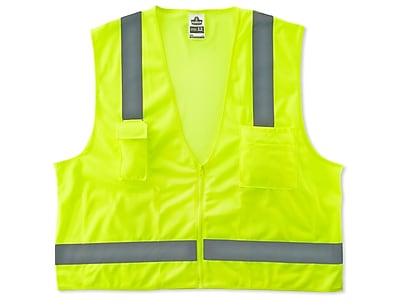 Ergodyne® GloWear® 8249Z Class 2 Hi-Visibility Economy Surveyors Vest, Lime, 2XL/3XL