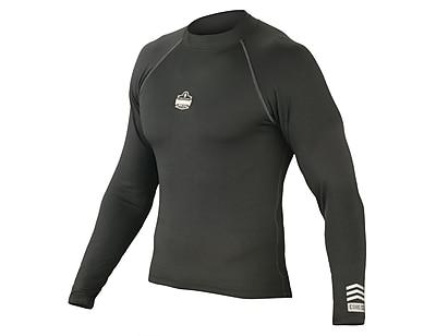 Ergodyne® CORE Performance Work Wear® 6435 Base Layer Long Sleeve Shirt, Black, 2XL