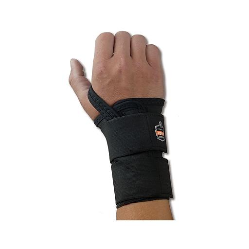 Ergodyne ProFlex® 4010 Double Strap Right Wrist Support, Large, Black