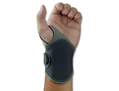 Ergodyne® ProFlex® 4020 Lightweight Wrist Support With Open Center Stay™, Gray, XS/Small Left