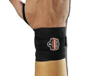 Ergodyne® ProFlex® 420 Ambidextrous Wrist Wrap With Thumb Loop, Black, Large/XL