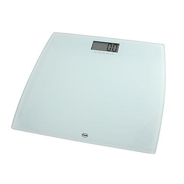 American Weigh Scales 330LPW Low Profile Bathroom Scale, White