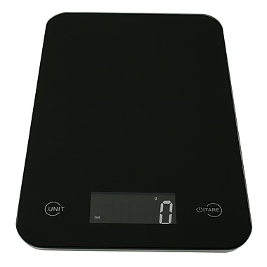 American Weigh Scales ONYX Ultra Slim Digital Kitchen Scale, Black