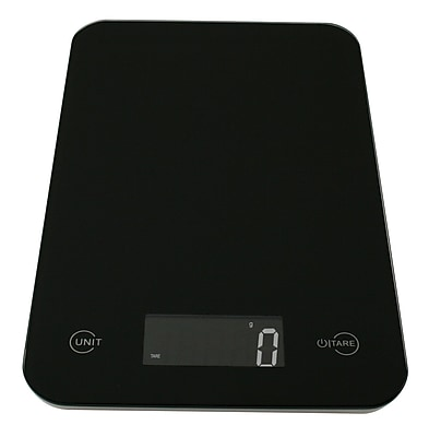 American Weigh Scales ONYX Ultra Slim Digital Kitchen Scale, Black