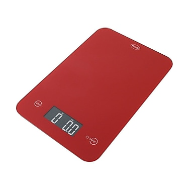 American Weigh Scales ONYX Ultra Slim Digital Kitchen Scale, Red