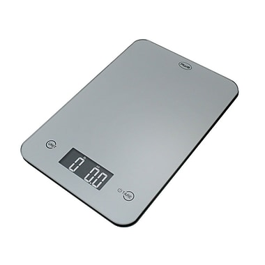 American Weigh Scales ONYX Ultra Slim Digital Kitchen Scale, Silver