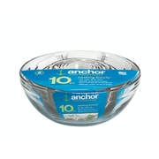 Anchor Hocking® Glass Mixing Bowl Value Pack, 10 Piece/Set