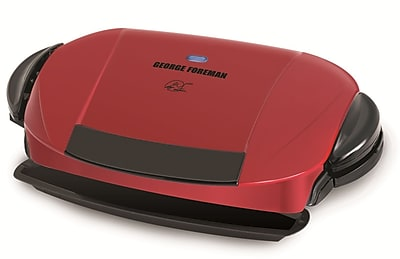 George Foreman® 5 Serving Removable Plate Grill, Red