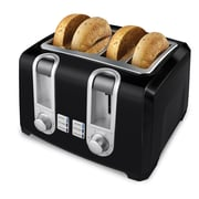 Applica™ Black&Decker® 850 W 4 Slice 4 Slot Toaster, Black