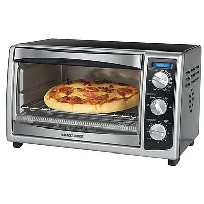 Black & Decker® 6 Slice Countertop Convection Toaster Oven, Black
