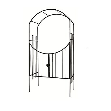 Gardman 8' Savannah Garden Arch With Gate, Black