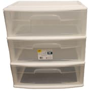 "Home Homz® 25 1/2"" Large 3 Drawer Cart, White"