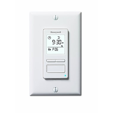 Honeywell® ECONOSwitch® 7 Day Solar Programmable Light Switch Timer, White