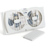 "Jarden Home Environment Holmes™ 7"" Dual Blade Twin Window Fan, White"