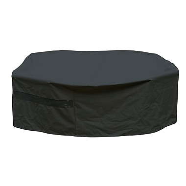 Mr. Bar-B-Q® Backyard Basics™ Round Patio Set Cover, Black, Large