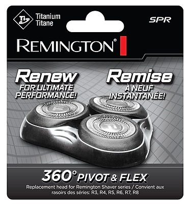 Remington® Replacement Head and Cutter Assembly For 360 Pivot & Flex Rotary Shavers, Chrome