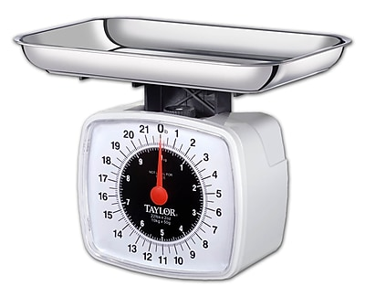 Taylor 22 lb x 2 oz Kitchen Scale With Dial, Black/Red