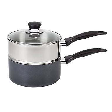 T-fal® Specialty Stainless Steel Double Boiler With Phenolic Handle Cookware, Silver, 3 qt.