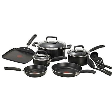 T-fal® Signature Total 12 Piece Nonstick Aluminum Cookware Set, Black
