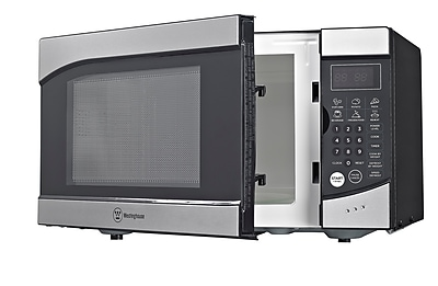 Westinghouse 900 W Countertop Microwave Oven, Stainless Steel/Black