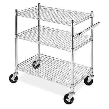 Whitmor Supreme Commercial 3 Tier Cart, Chrome