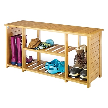 Whitmor Bamboo Shoe Bench