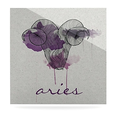 KESS InHouse Aries by Belinda Gillies Graphic Art Plaque; 8'' H x 8'' W