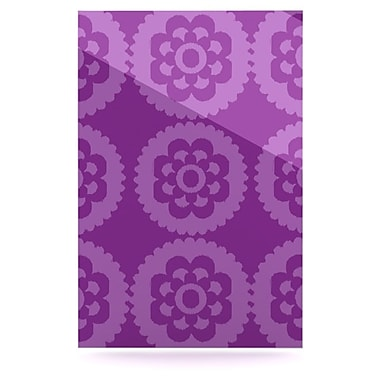 KESS InHouse Moroccan by Nicole Ketchum Graphic Art Plaque; Purple