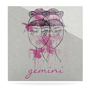 KESS InHouse Gemini by Belinda Gillies Graphic Art Plaque; 10'' H x 10'' W