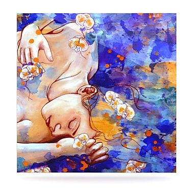 KESS InHouse A Deeper Sleep by Kira Crees Painting Print Plaque; 10'' H x 10'' W