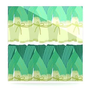 KESS InHouse Leeks by Laura Nicholson Graphic Art Plaque; 10'' H x 10'' W