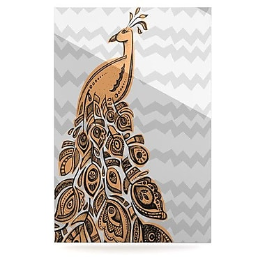 KESS InHouse Peacock by Brienne Jepkema Graphic Art Plaque; Yellow