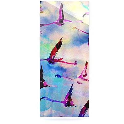 KESS InHouse Flamingo in Flight by Nikki Strange Painting Print Plaque